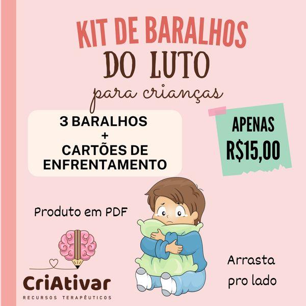 Imagem principal do produto KIT BARALHOS DO LUTO para crianças