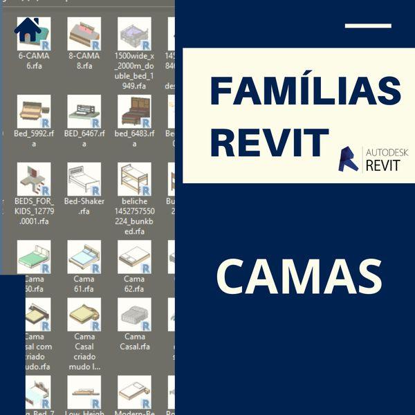 Imagem principal do produto Famílias para Revit Camas