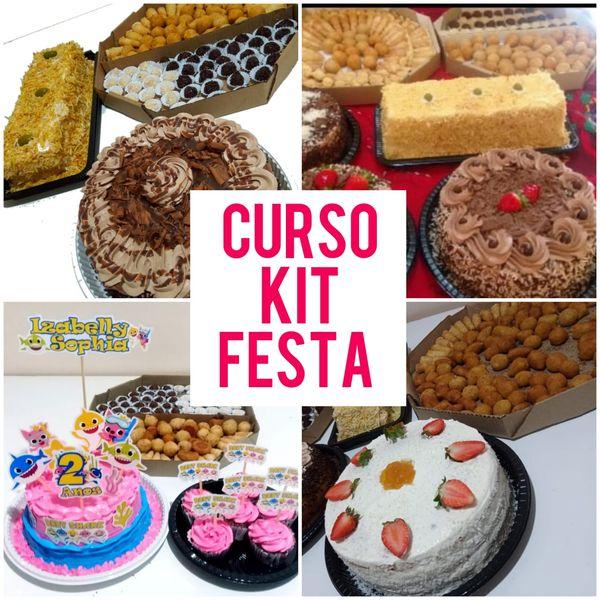 Imagem principal do produto Curso Online Trabalhe com Kit Festa - Bolos, salgados, doces e tortas para Aniversários e datas comemorativas