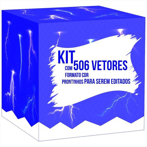 Imagem principal do produto Kit 506 vetores no formato CDR, prontinhos para serem editados