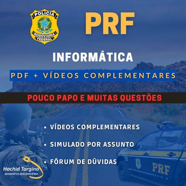 Imagem principal do produto Curso de Informática para Polícia Rodoviária Federal (PDF + Vídeos Complementares)
