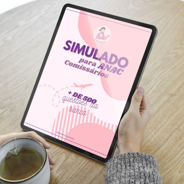 Imagem principal do produto E-book Simulado ANAC para Comissários de Voo