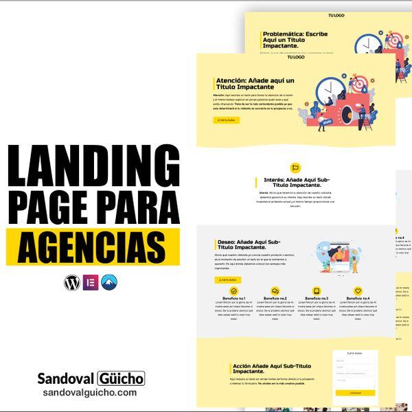 Imagem principal do produto 24-. 👉 Combo: Landing Page y Página de Ventas para  Agencias de Marketing - Compatibles para WordPress y Elementor.