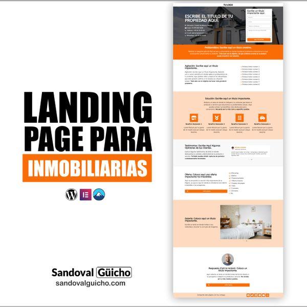Imagem principal do produto 28-. 👉 Landing Page para Inmobiliarias y Bienes Raíces  - Compatibles para WordPress y Elementor PRO.