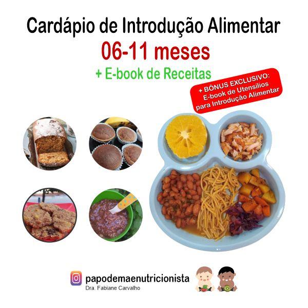 Imagem principal do produto E-book de cardápios para introdução alimentar + receitas 06-11 meses
