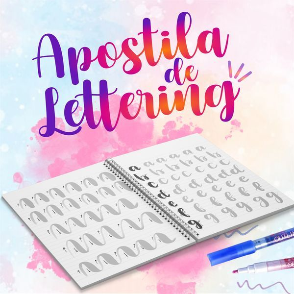 Imagem principal do produto Apostila Para Treino de Lettering