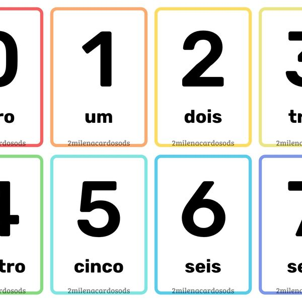 Imagem principal do produto Flashcards Numerais Coloridos