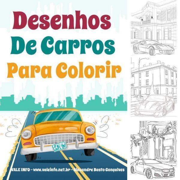 Imagem principal do produto DESENHOS DE CARROS PARA COLORIR