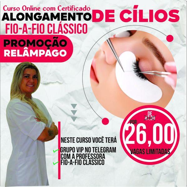 Imagem principal do produto Alongamento de Cílios Fio a Fio Clássico