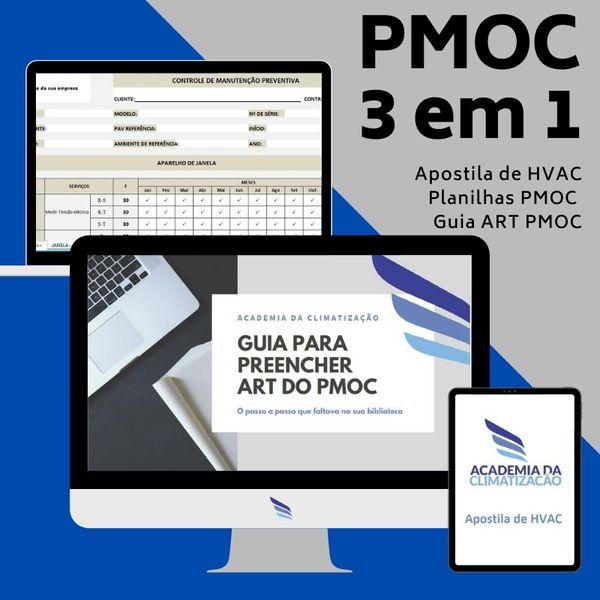 Imagem principal do produto Apostila + 02 super BÔNUS (Planilha de PMOC e Guia passo a passo para preenchimento de ART de PMOC)