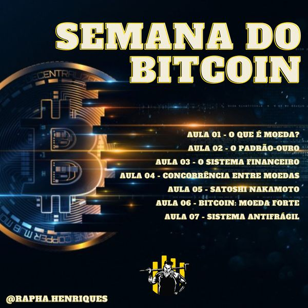 Imagem principal do produto AULAS SEMANA DO BITCOIN AO VIVO