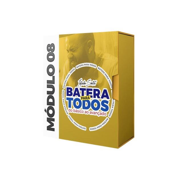 Imagem principal do produto CURSO BATERIA PARA TODOS MÓDULO 08 RITMOS LATINOS,USA E TÉCNICA DE PEDAL - JEFINHO SANTOS
