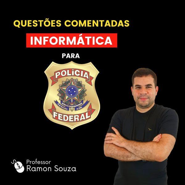 Imagem principal do produto Curso de Questões Comentadas de Informática para Polícia Federal (PF)