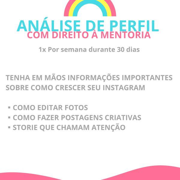 Imagem principal do produto Analise de perfil e mentoria sobre instagram