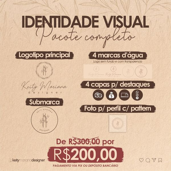 Imagem principal do produto Identidade Visual Completa