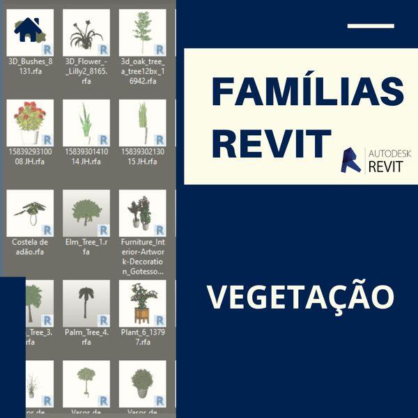 Imagem principal do produto Famílias para Revit Vegetação