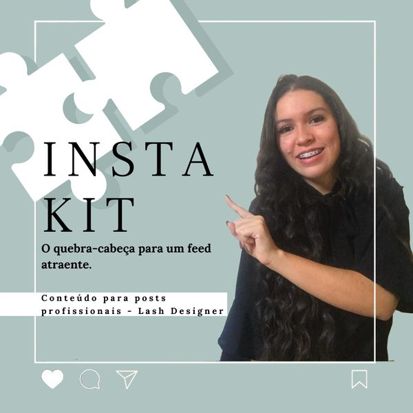Imagem principal do produto Insta Kit - Conteúdo para posts profissionais - Lash Designer