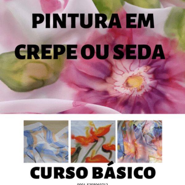 Imagem principal do produto CURSO BÁSICO DE PINTURA EM CREPE E SEDA