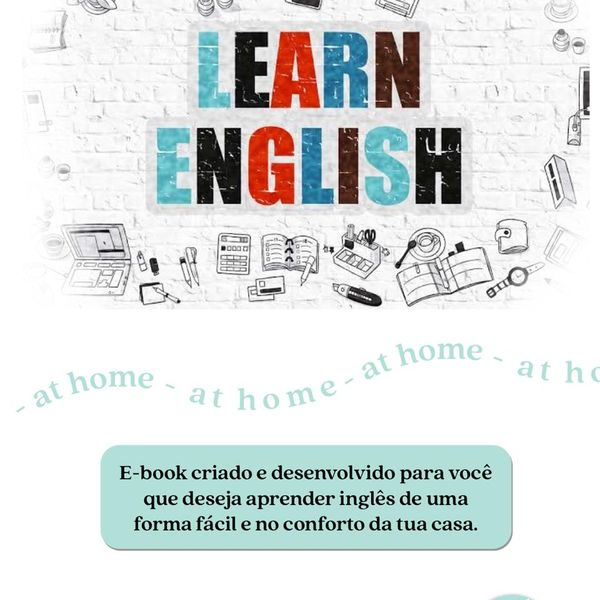 Learn English At Home - A BASE DO INGLÊS - Marina de Jesus Tosta - learn a  new skill - eBooks or Documents | Hotmart