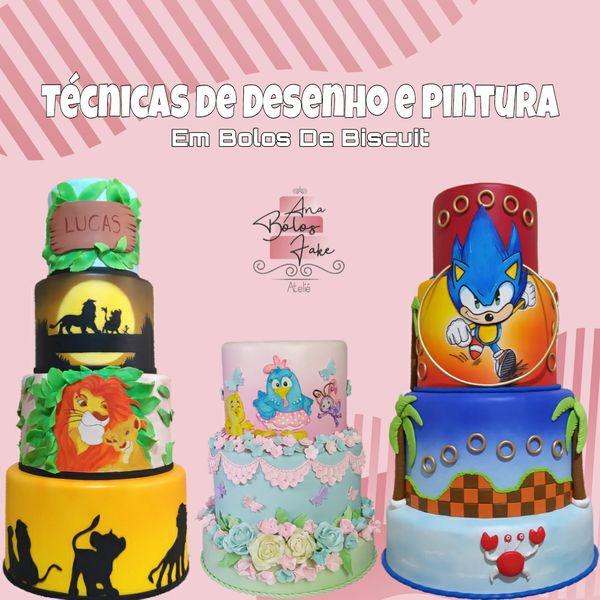 Imagem principal do produto DESENHO E PINTURA EM BOLOS CENOGRÁFICOS