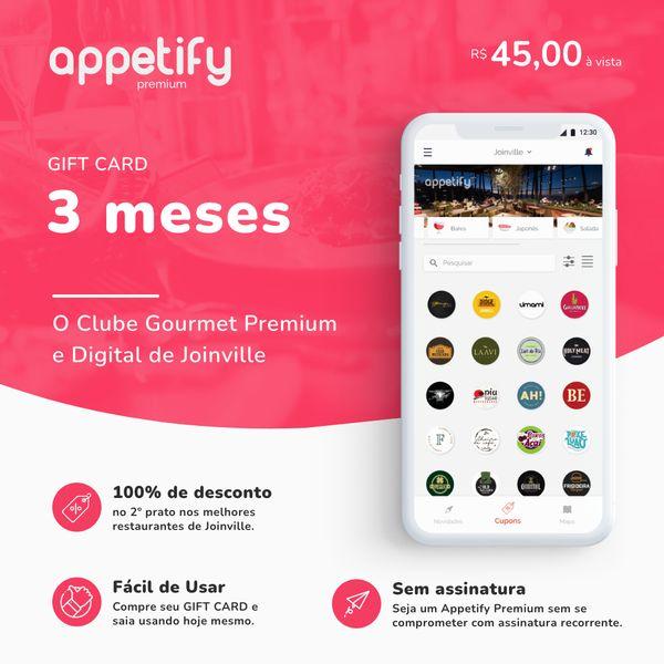 Imagem principal do produto 3 MESES de acesso ao app Appetify Premium