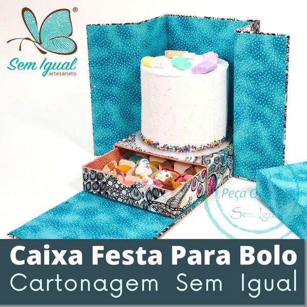 Imagem principal do produto Caixa Festa | Cartonagem do Seu Jeito