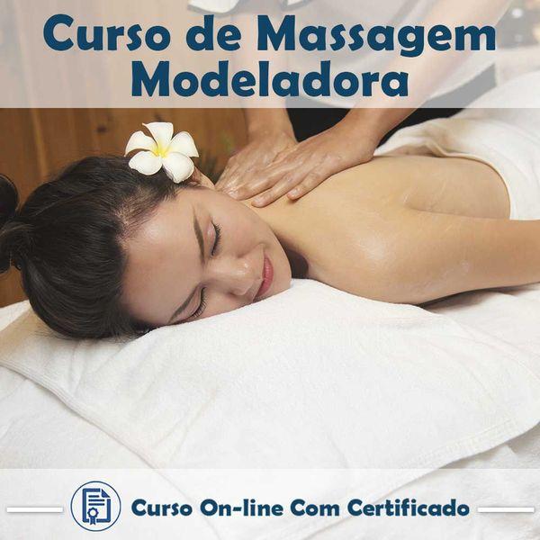 Imagem principal do produto Curso online em videoaula de Massagem Modeladora com Certificado