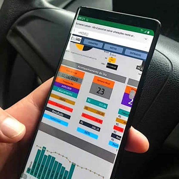 Imagem principal do produto Controle financeiro para motorista - Planilha empreendendo com a uber.