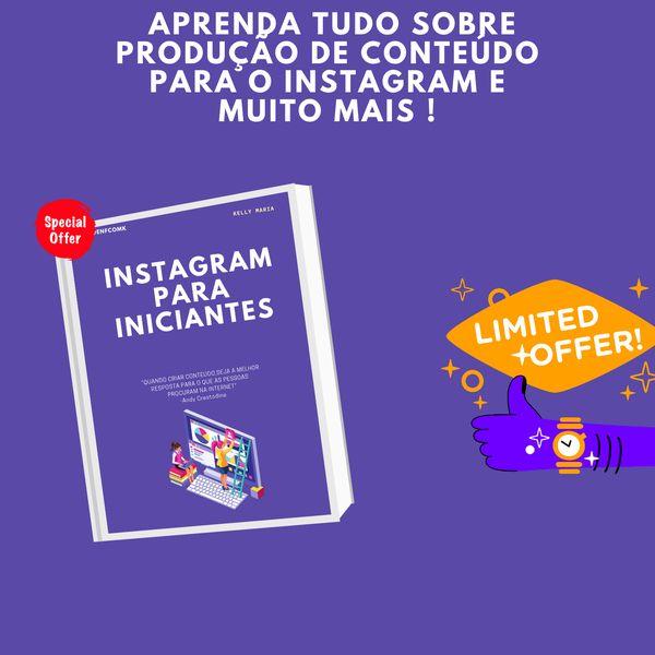 Imagem principal do produto INSTAGRAM PARA CRIADORES DE CONTEÚDO INICIANTES