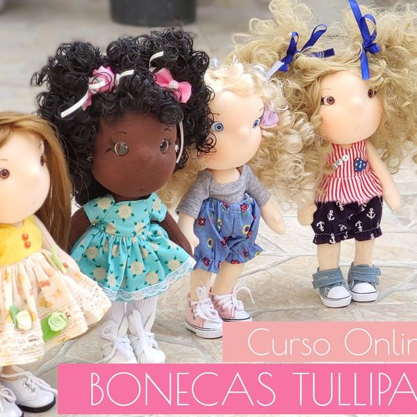 Imagem principal do produto Curso Online Bonecas Tullipas (25 cm)