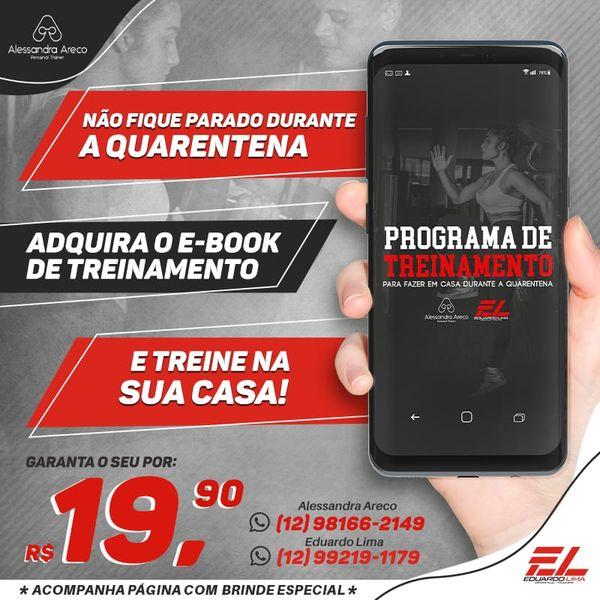 Imagem principal do produto EBOOK - TREINE EM CASA DURANTE A QUARENTENA + BÔNUS DE ALONGAMENTO