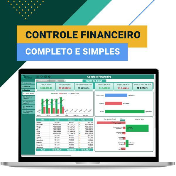 Imagem principal do produto Controle Financeiro Empresarial - Alvo Planilhas