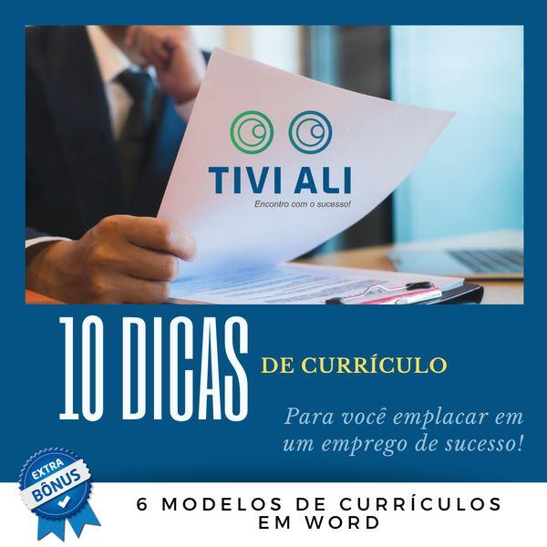 Imagem principal do produto 10 DICAS DE CURRÍCULO - Para você emplacar em um emprego de sucesso!