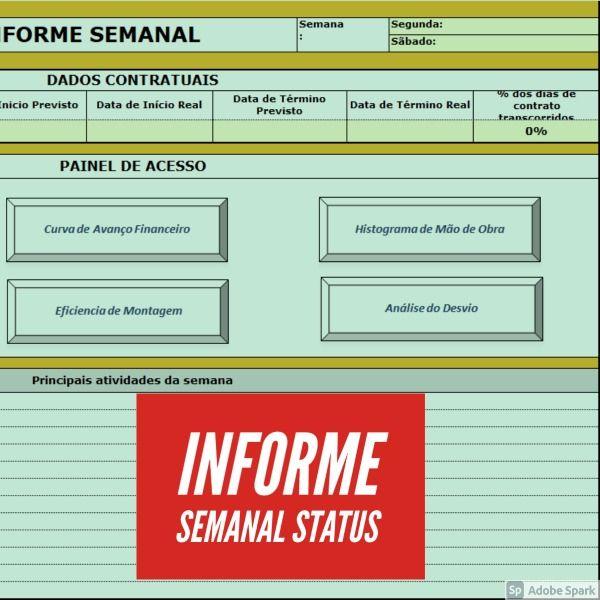 Imagem principal do produto RELATÓRIO SEMANAL DE OBRAS - RSO