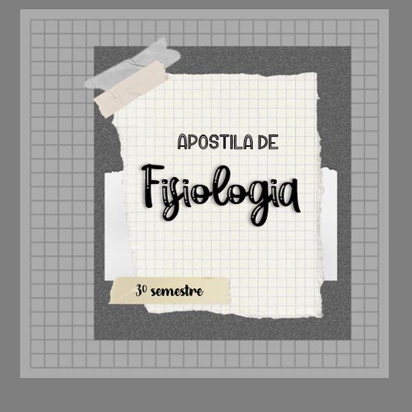 Imagem principal do produto Apostila de Fisiologia para Odontologia