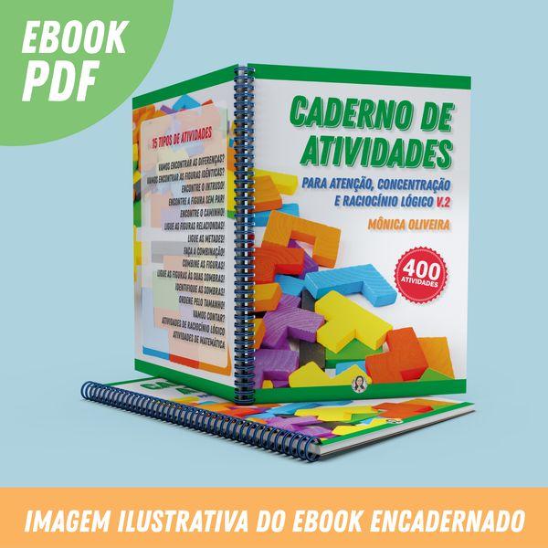 Imagem principal do produto Caderno de Atividades para Atenção, Concentração e Raciocínio Lógico Volume 2