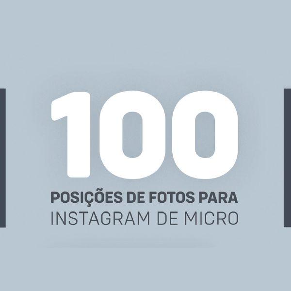 Imagem principal do produto 100 poses de fotos para Instagram de micropigmentação