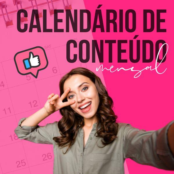 Imagem principal do produto Calendário de Conteúdo Mensal para Redes Sociais