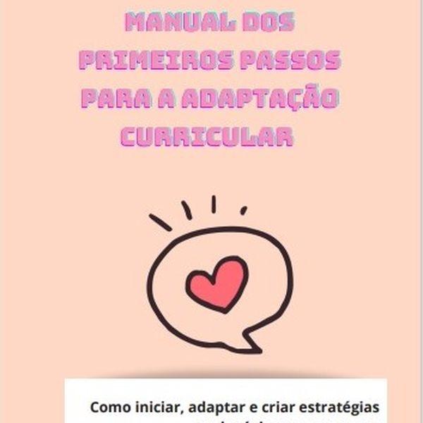 Imagem principal do produto Ebook Manual dos primeiros passos para a adaptação curricular