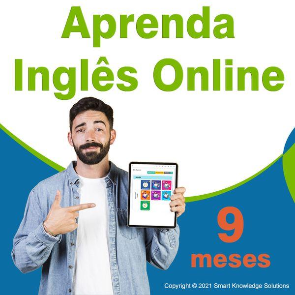 Imagem principal do produto Curso de inglês online programa completo auto estudo - inscrição de 9 meses inclui livro e certificado