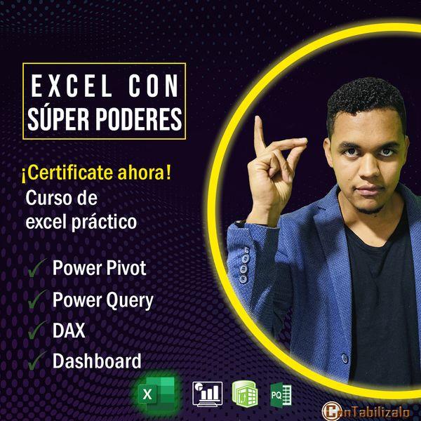 Imagem principal do produto Excel práctico + Power  Query + Power Pivot + Dashboard  (4X1)