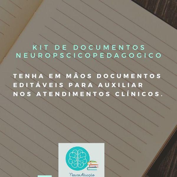 Imagem principal do produto Kit de documentos neuropscicopedagógico/psicopedagógico