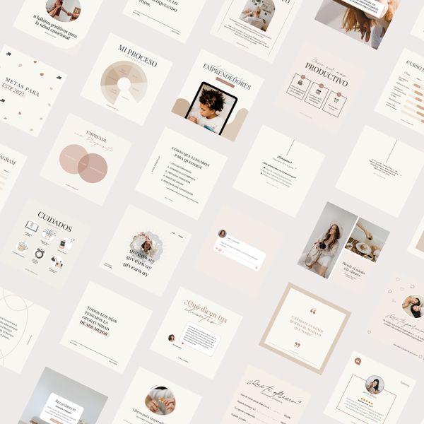 Imagem principal do produto 50 Plantillas Editables por Canva GRATIS