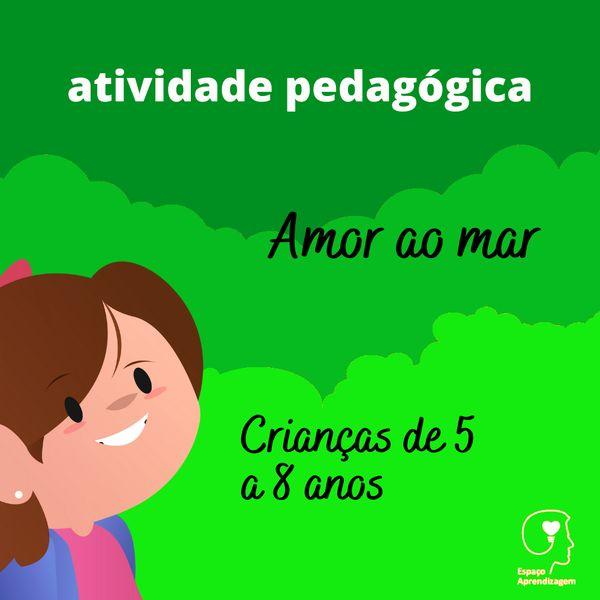 Imagem principal do produto Amor ao mar - Letra R no final das Palavras