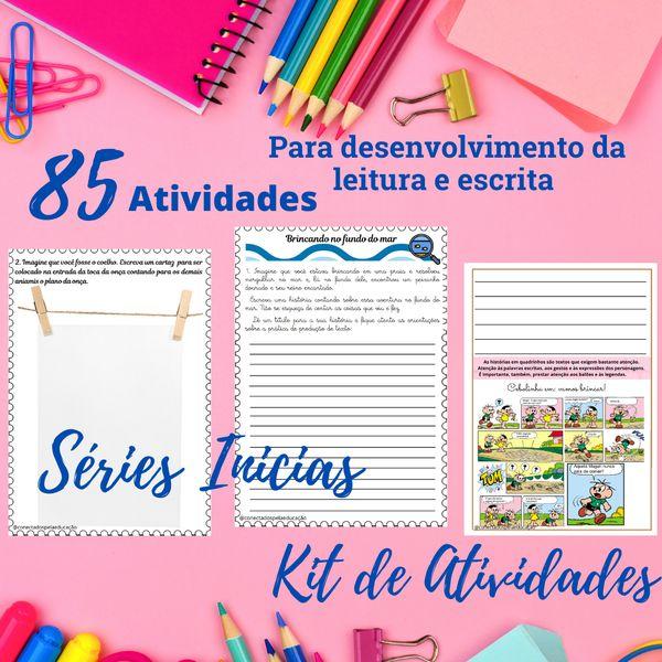 Imagem principal do produto KIT DE ATIVIDADES DE LEITURA E ESCRITA SÉRIES INICIAIS