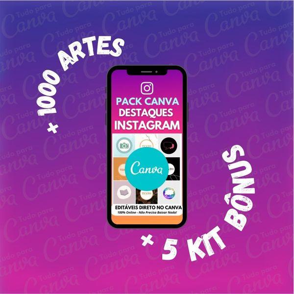 Imagem principal do produto Destaques Instagram - Artes Para Canva +1000Artes+5KitsBônus