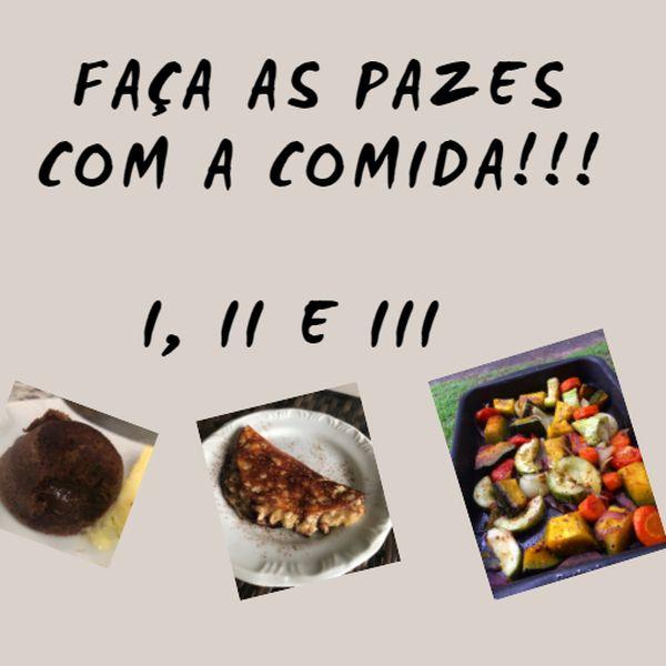 """Imagem principal do produto Combo com 3 E-books de receitas """"Faça as pazes com a comida""""!"""