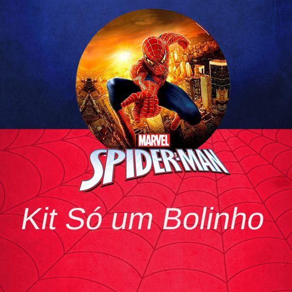 Imagem principal do produto Kit para festa Homem Aranha- Só um bolinho
