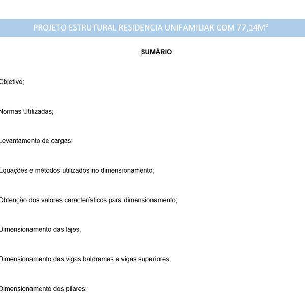 Imagem principal do produto PROJETO ESTRUTURAL RESIDENCIAL (RELATÓRIO DE CALCULOS + PROJETO DWG)