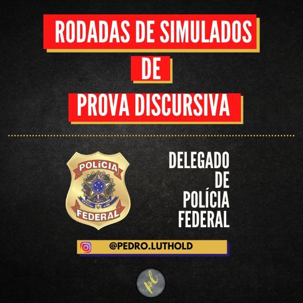 Imagem principal do produto COMBO DE SIMULADOS DE PROVA DISCURSIVA DELEGADO PF